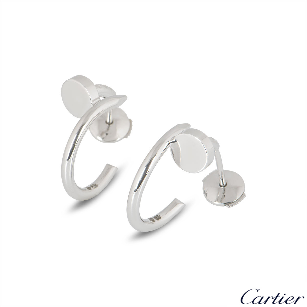 Cartier White Gold Plain Juste un Clou Earrings B8301236